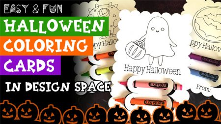 How to Make Halloween Coloring Cards with Crayons