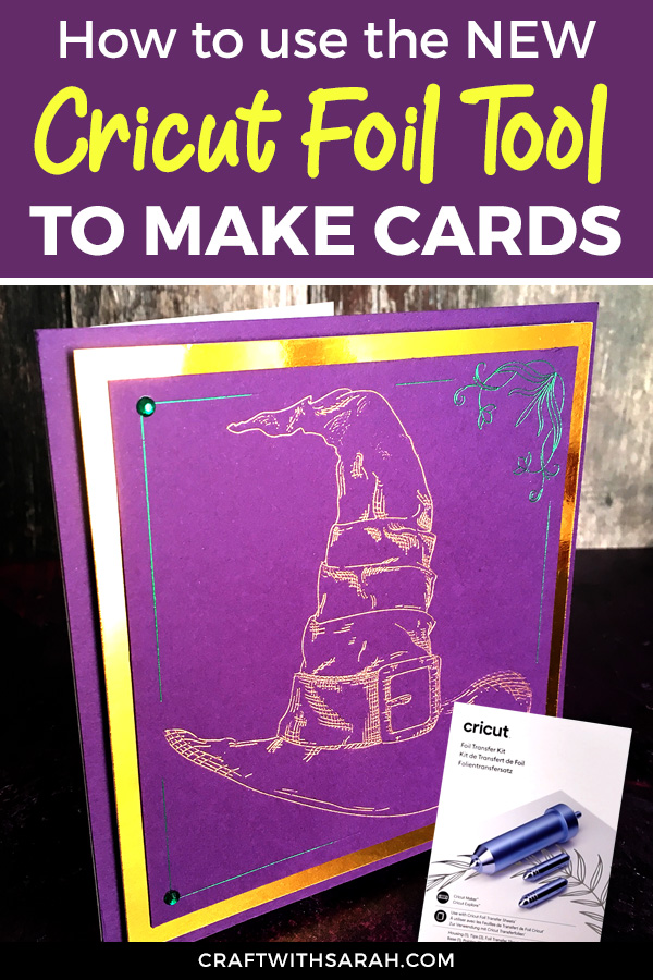 How to use Cricut's foil transfer tool. Making handmade cards with the Cricut foil tool. How to add foil to cards with a Cricut machine.