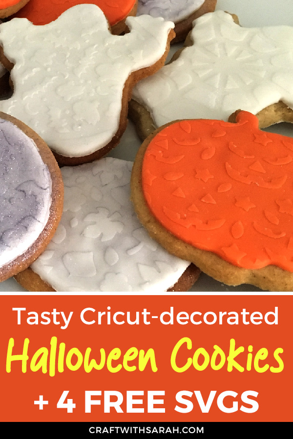 How to make reusable cookie stencils with a Cricut machine. Free Halloween cookie stencils for Cricut. Cricut cookie making tutorial.