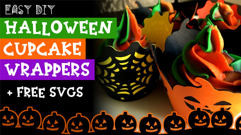 Easy DIY Halloween Cupcake Wrappers with Cricut