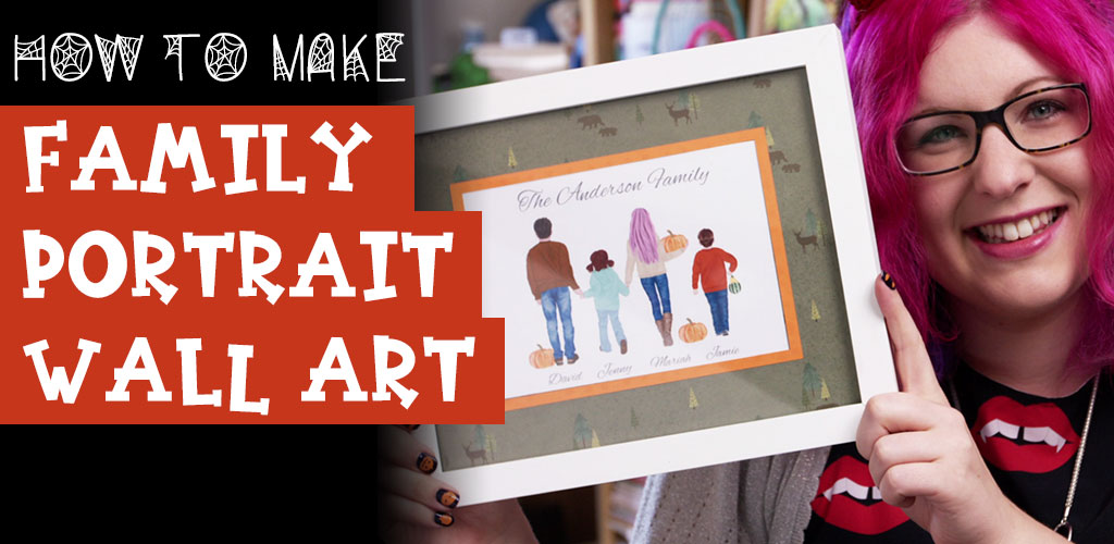 Make Personalized Family Portrait Wall Art for Fall