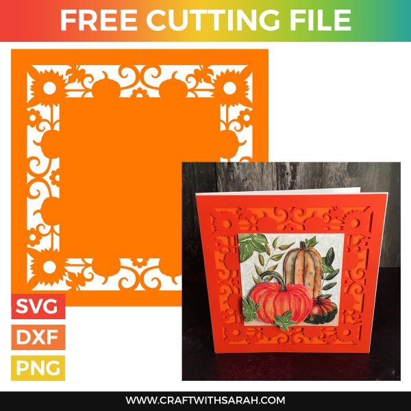 Filigree Pumpkins Card Front Cutting File