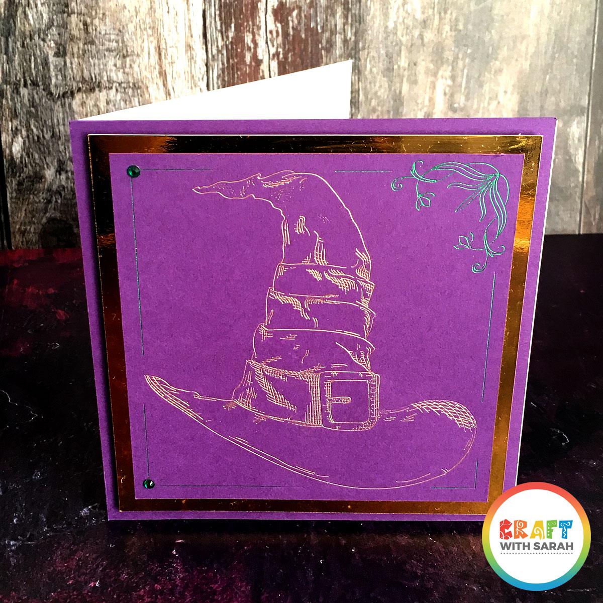 Handmade card using the Cricut foil tool