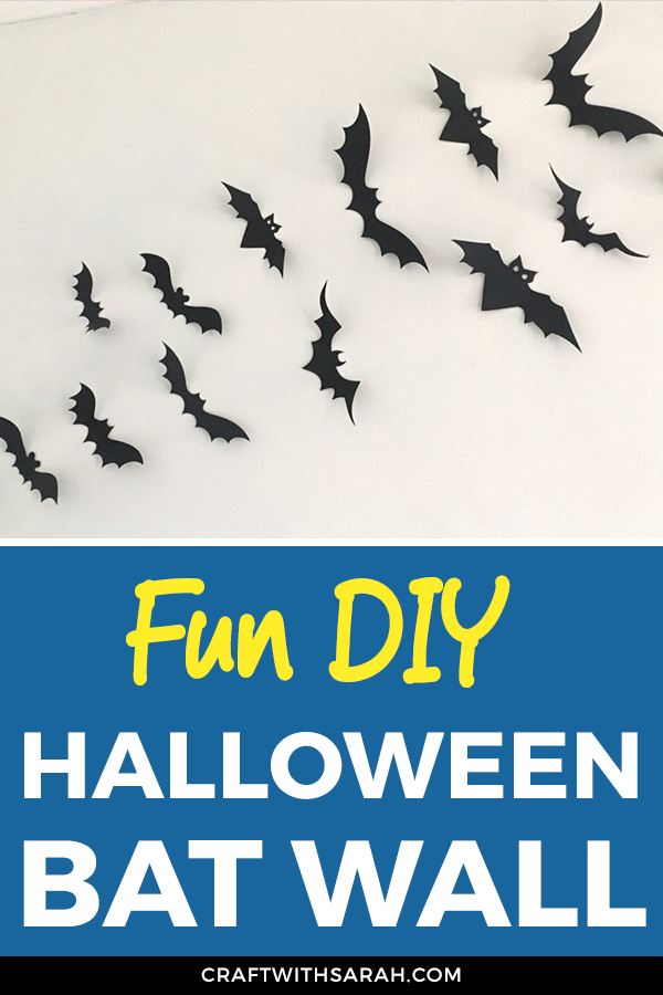 Make your home THE talk of the town this Halloween with a flock of bats all over the walls. DIY bat wall made with a Cricut machine. Easy Cricut Halloween decorations.