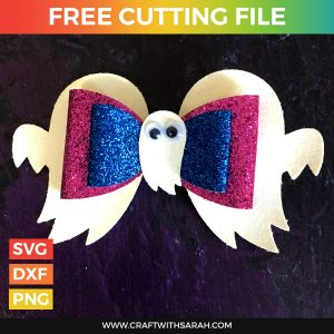 Ghost Hair Bow SVG Cutting File