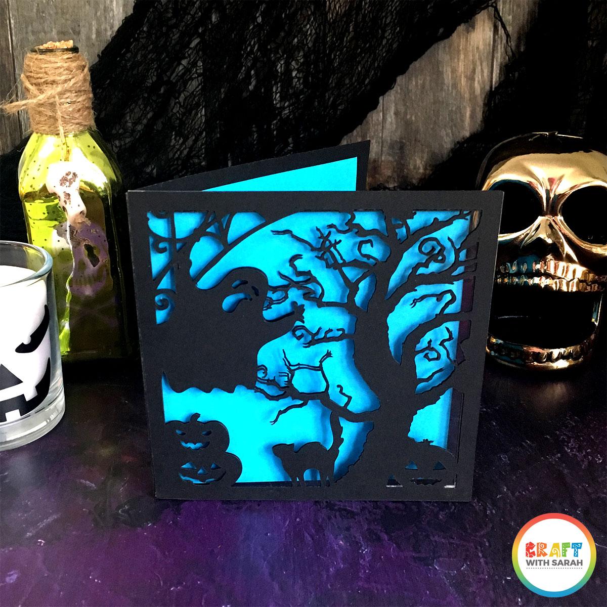 Handmade Halloween card made with a Cricut Maker machine