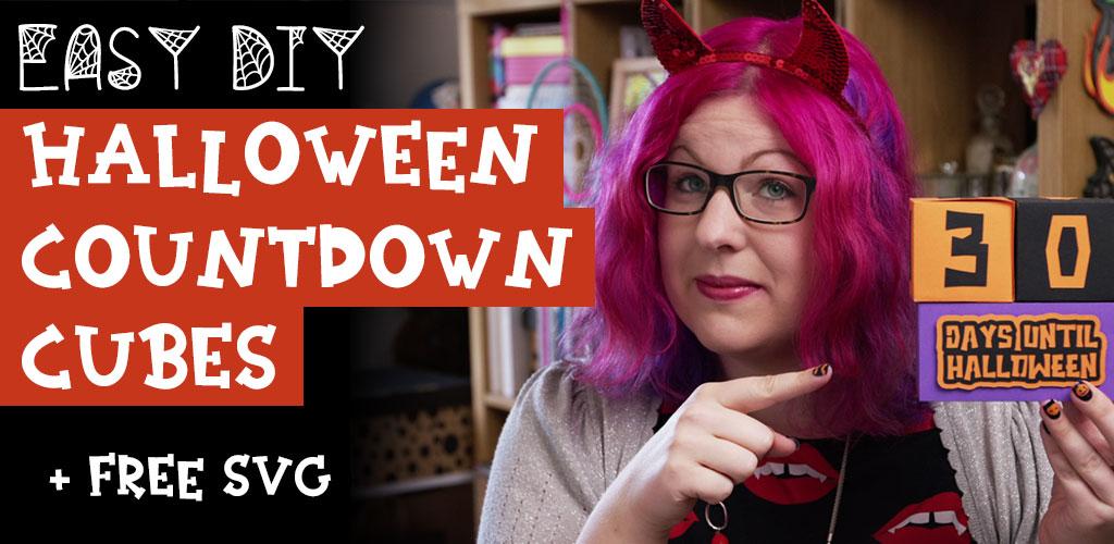 Easy DIY Halloween Countdown Cubes