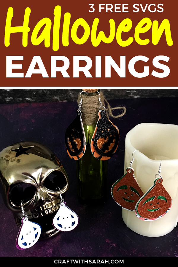 Yes, you CAN make earrings with a Cricut... and it's SO easy! Here's how to cut faux leather with a Cricut Maker to turn into cute Halloween earrings to for some spooky fashion!