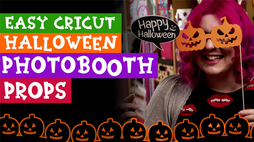 Make Fun Halloween Photobooth Props with your Cricut