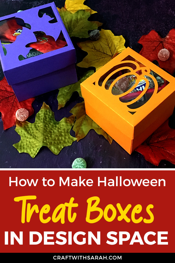 Customize existing Design Space box templates to make them Halloween themed treat boxes with this easy-to-follow Cricut Design Space tutorial.