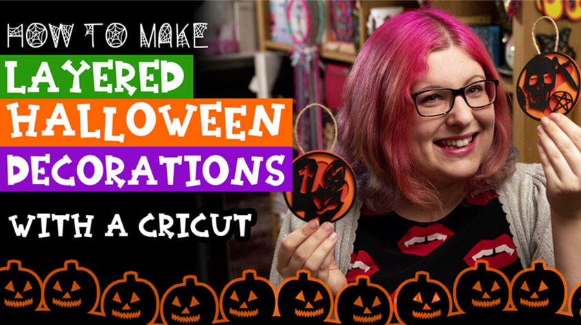 Layered Halloween Decorations with Cricut Access