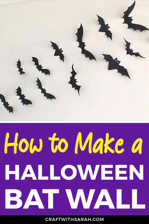 Learn how to make this fun bat wall to decorate your home for Halloween. DIY Bat Wall. Bat Wall made with Card and Cricut Machine.
