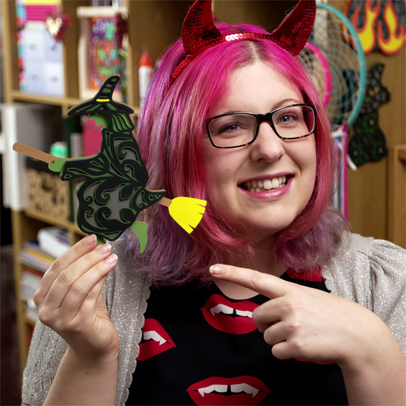 Halloween witch cutting file by Craft with Sarah