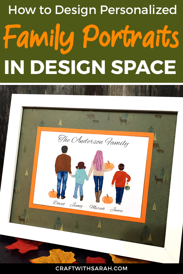 If you're in need of some Fall-themed wall art for your home, why not design your own and make it PERSONALIZED to your family? Designing wall art in Design Space is so fun, and you'll end up with a beautiful print to treasure forever.