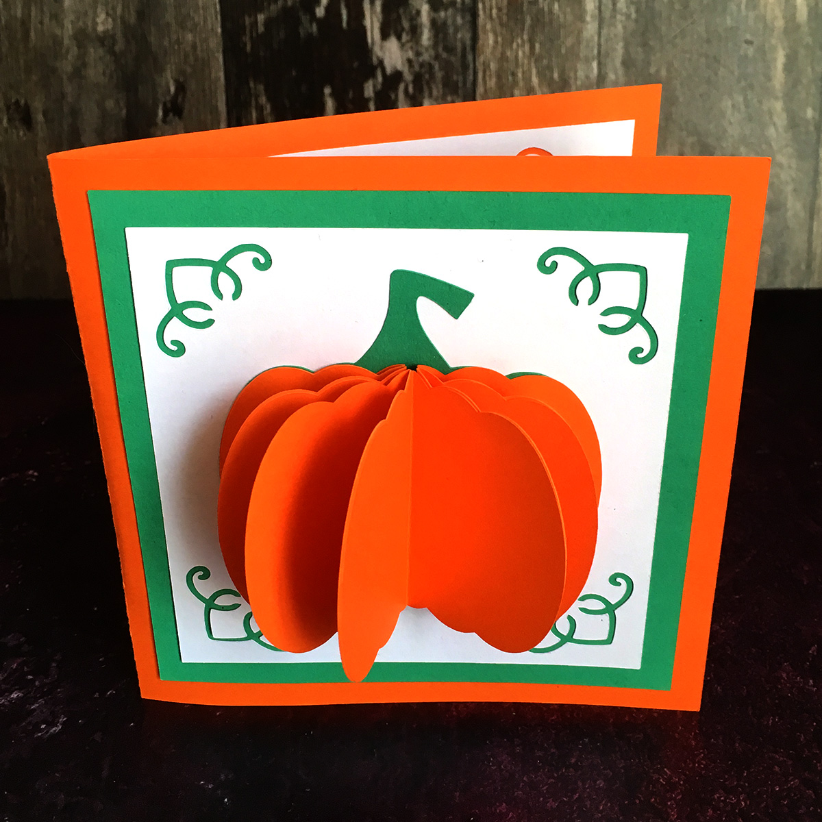 Popup pumpkin card