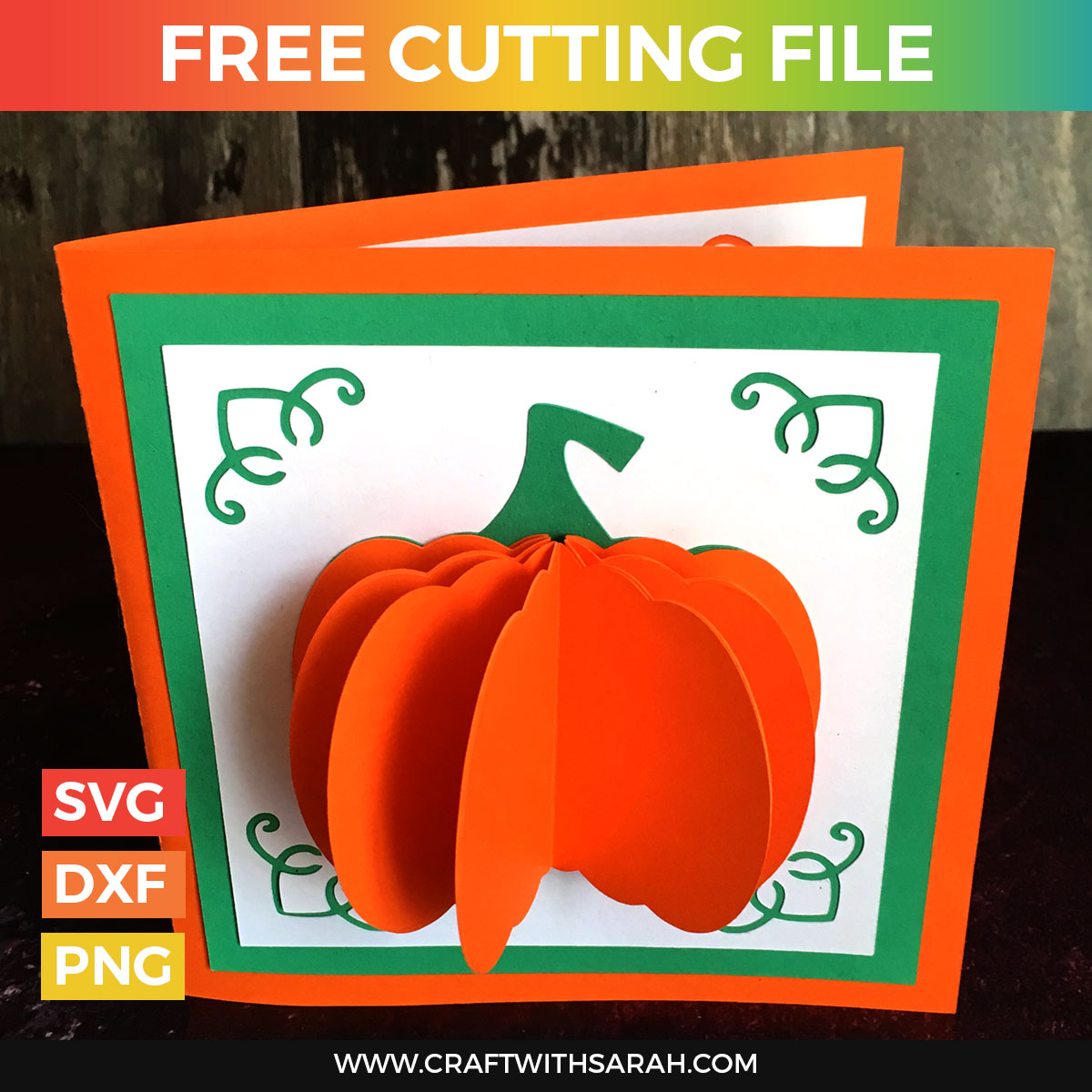 Popup Pumpkin Card SVG