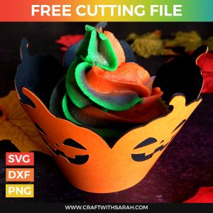 Halloween Pumpkin Cupcake Wrapper SVG