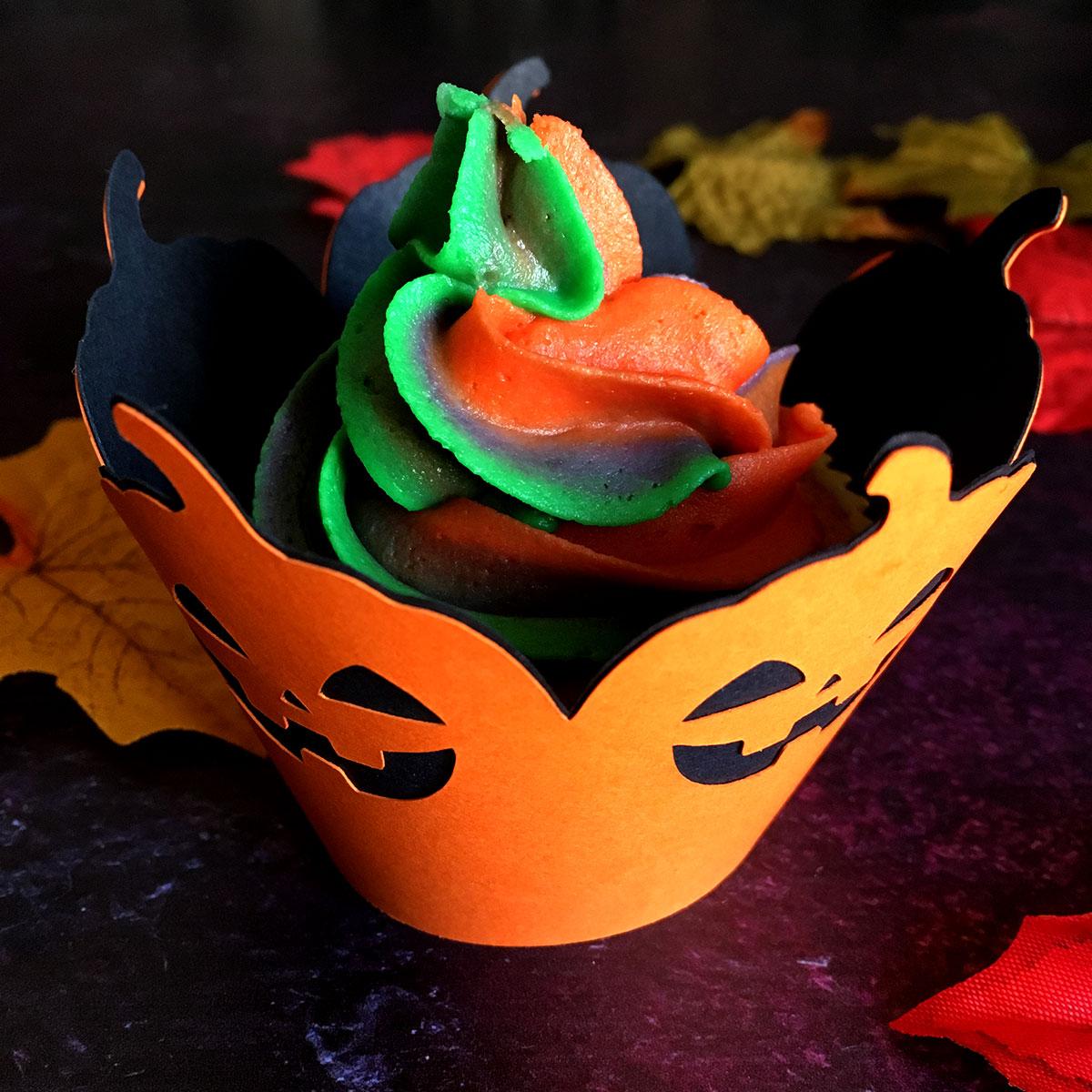 Pumpkin cupcake case