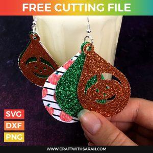 Pumpkin Earrings Cutting File