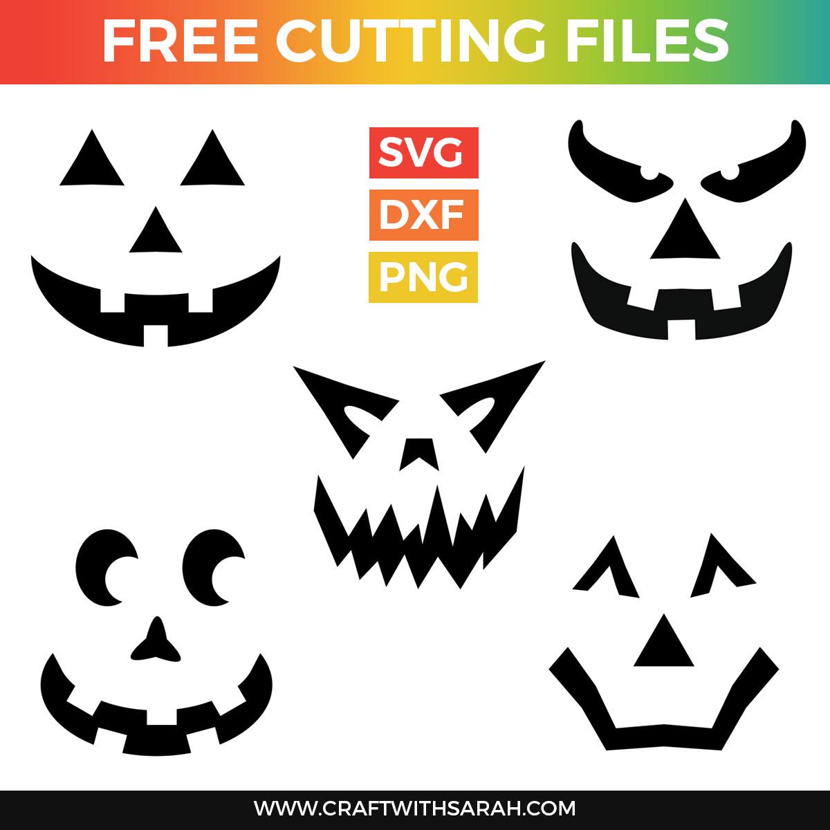 5 Free Pumpkin Face SVGs