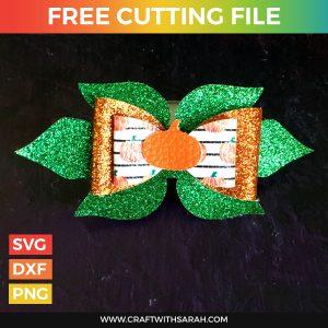 Pumpkin Hair Bow SVG Cutting File