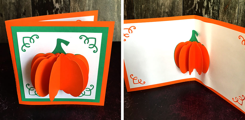 How to Make a Popup Pumpkin Card for Fall