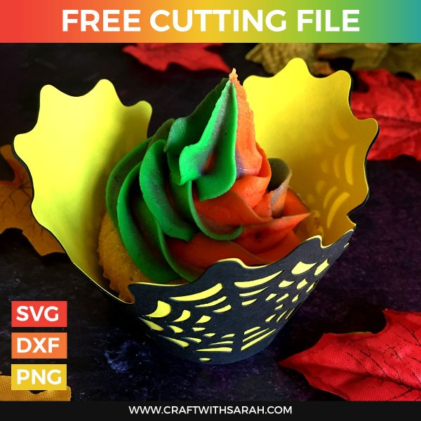 Halloween Spider Web Cupcake Wrapper SVG
