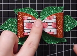 Glue bows to the base layer