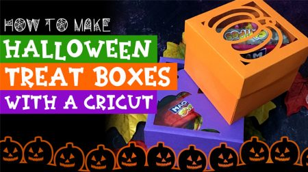 Tasty Halloween Treat Boxes Made with a Cricut