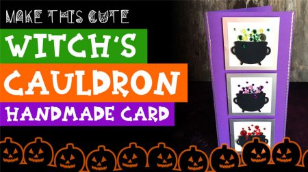 Make a Witch's Cauldron Slimline Card