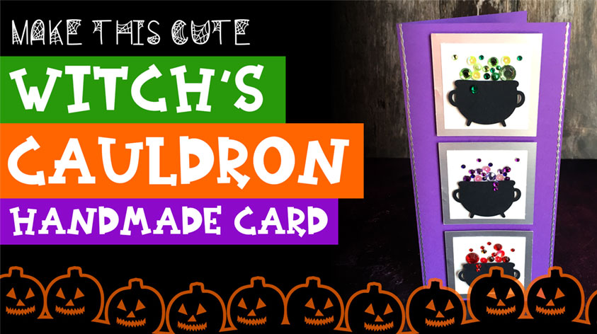 Make a Witch's Cauldron Slimline Card