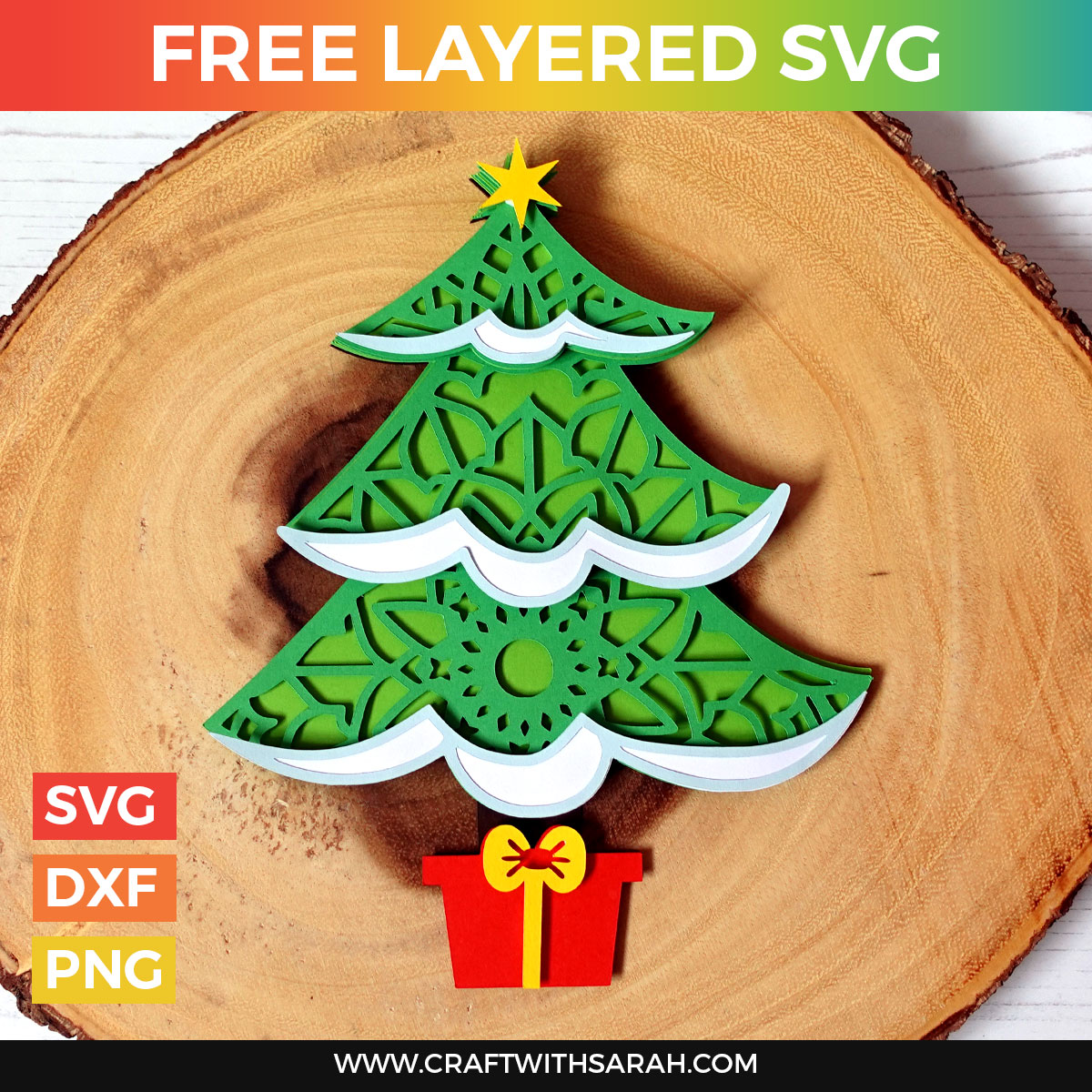 Christmas Tree Free Layered SVG