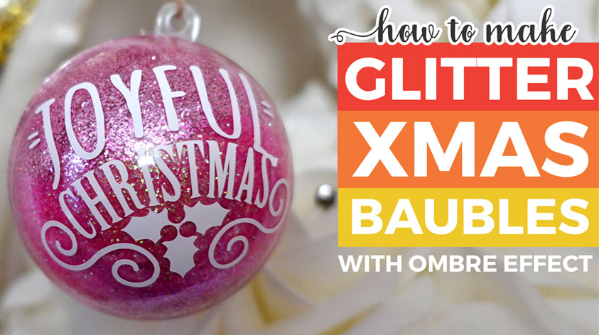 How to Make Glitter Ornaments with HAIRSPRAY!!