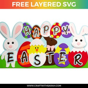 GIANT Layered Easter Sign SVG