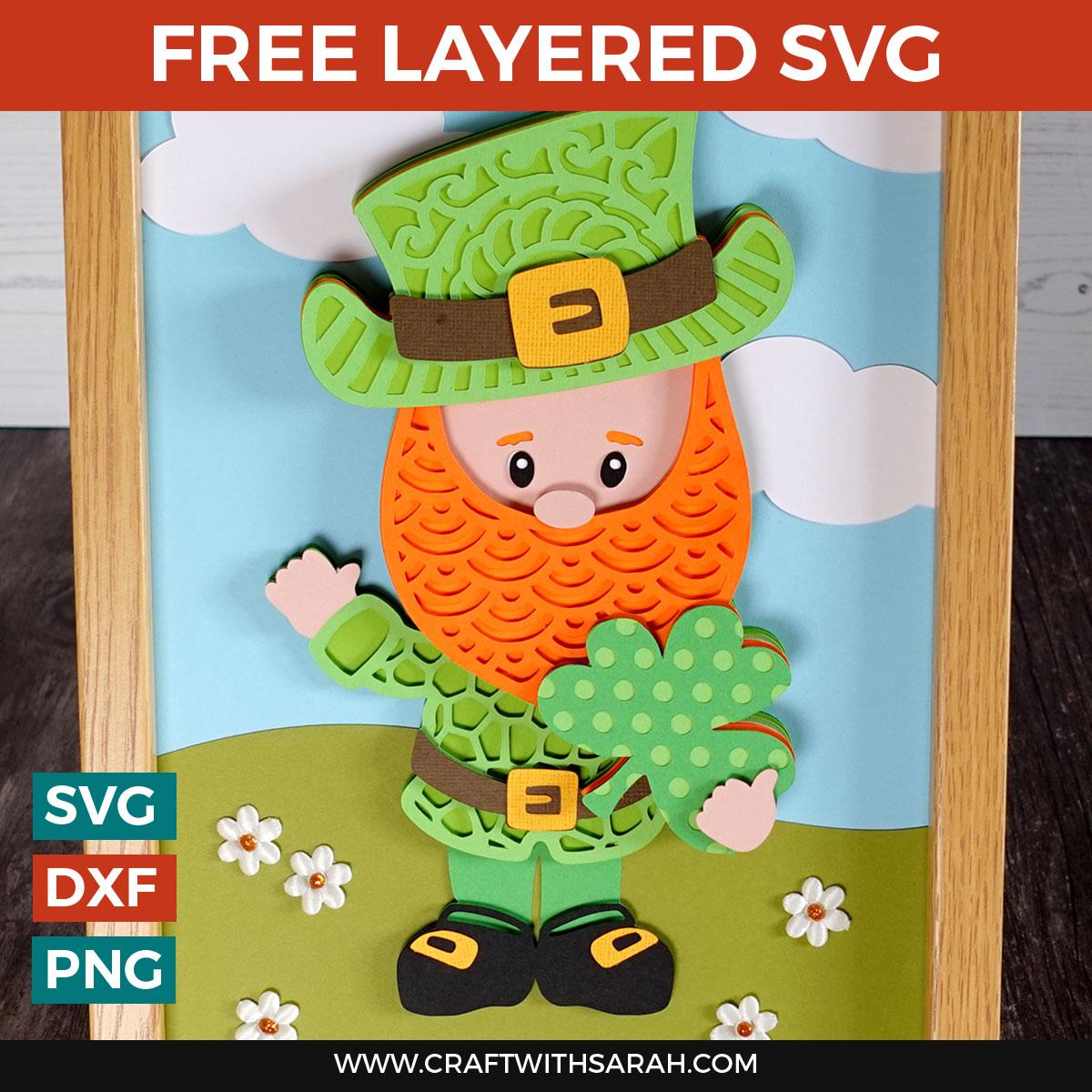 Leprechaun Layered SVG for St Patrick's Day