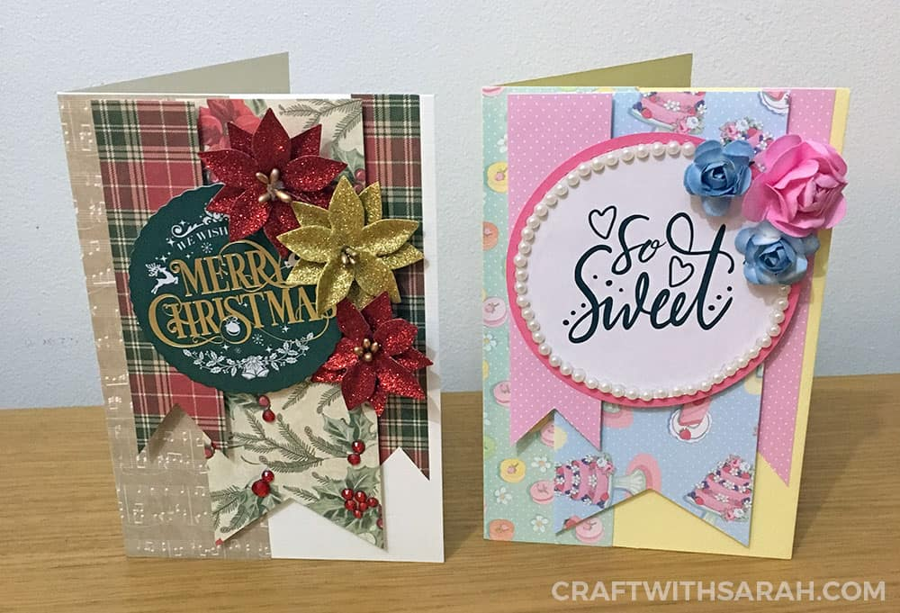 Cards made with card sketches