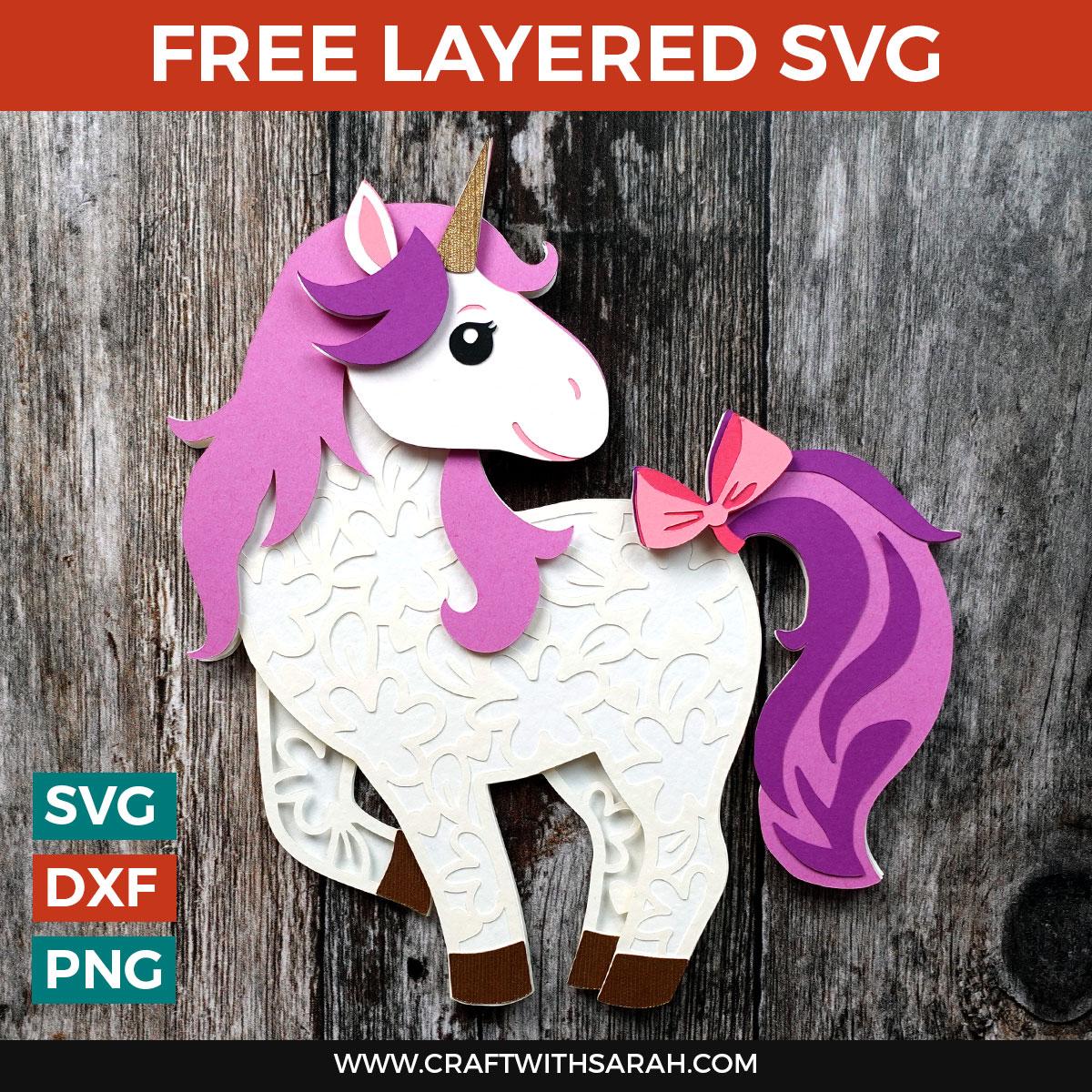 Free Unicorn Layered SVG