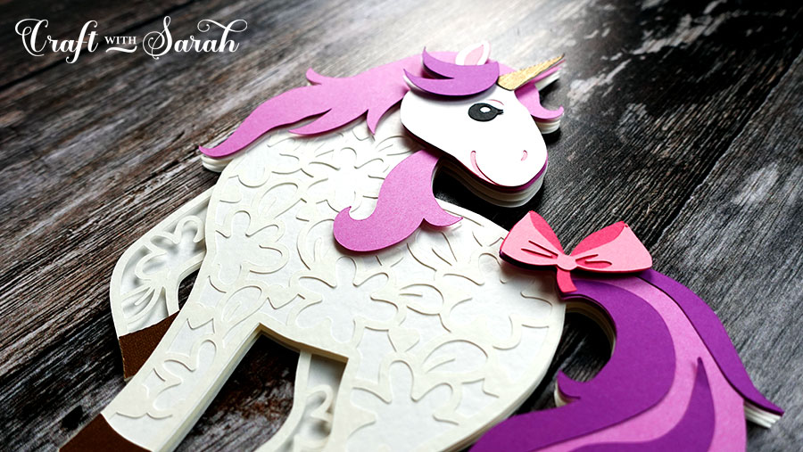 Unicorn papercraft project for Cricut