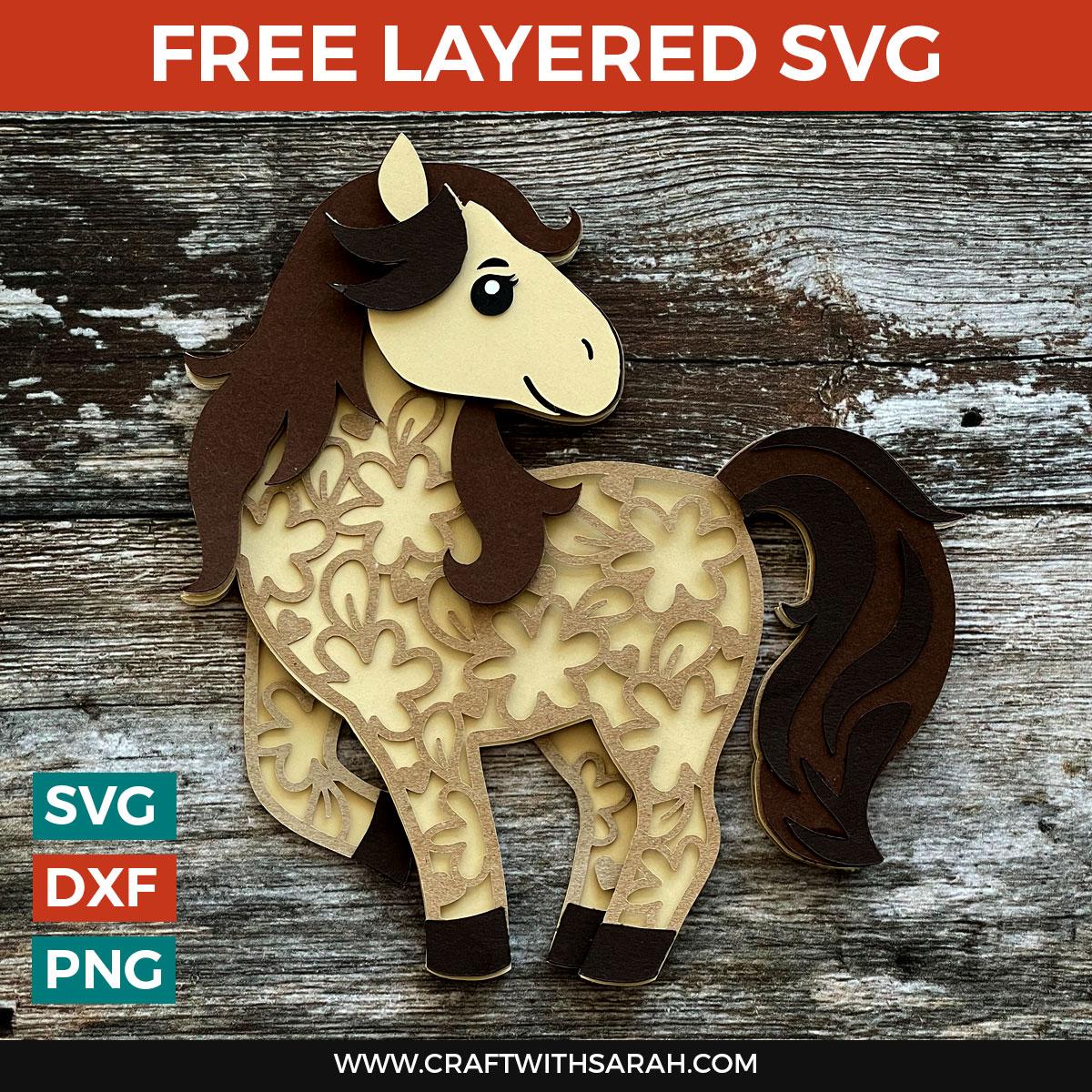 Free Horse Layered SVG