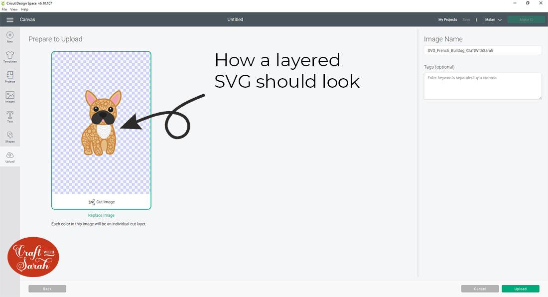 Upload SVG to Design Space
