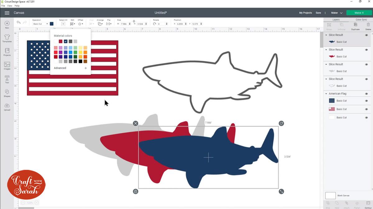 Filled in sharks