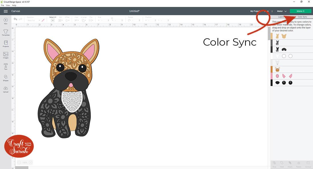 Design Space color sync