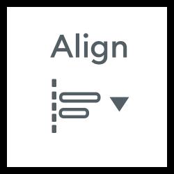 Design Space Align Icon