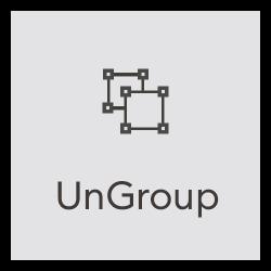 Design Space Ungroup Icon