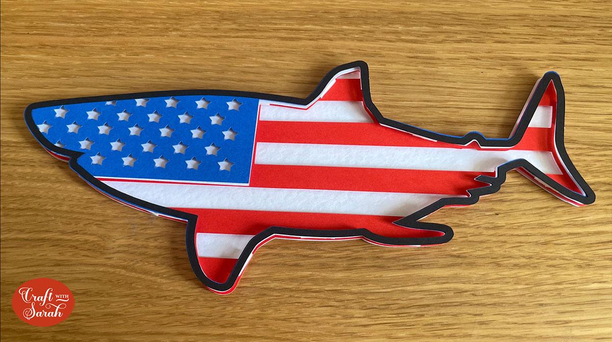 Finished shark design