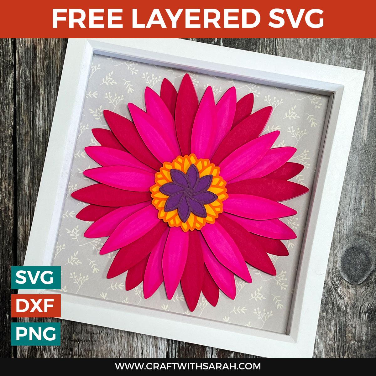 Gerbera Daisy Paper Flowers – Free Layered Flower SVG