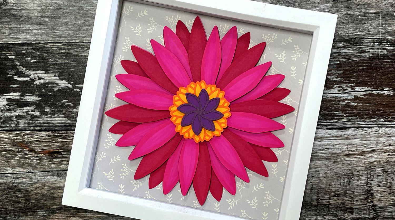 Gerbera Daisy Paper Flowers - Free Layered Flower SVG