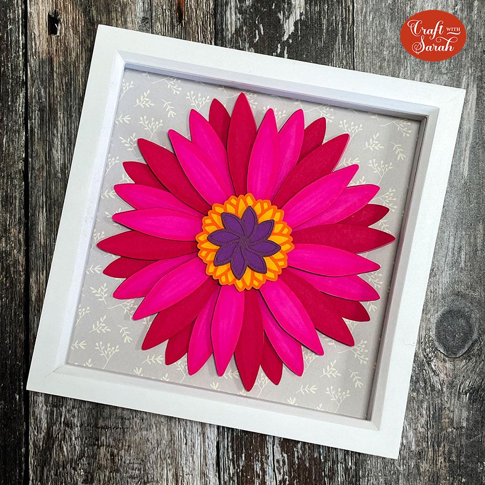 Free gerbera daisy paper flower svg
