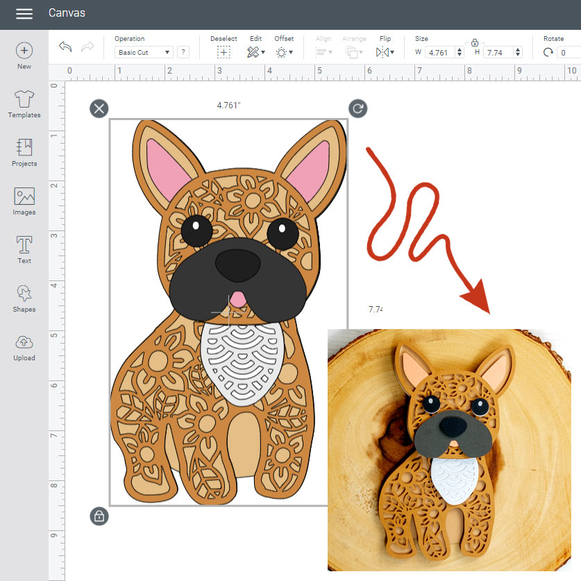 How to Upload, Cut & Make Layered Cardstock Designs on a Cricut