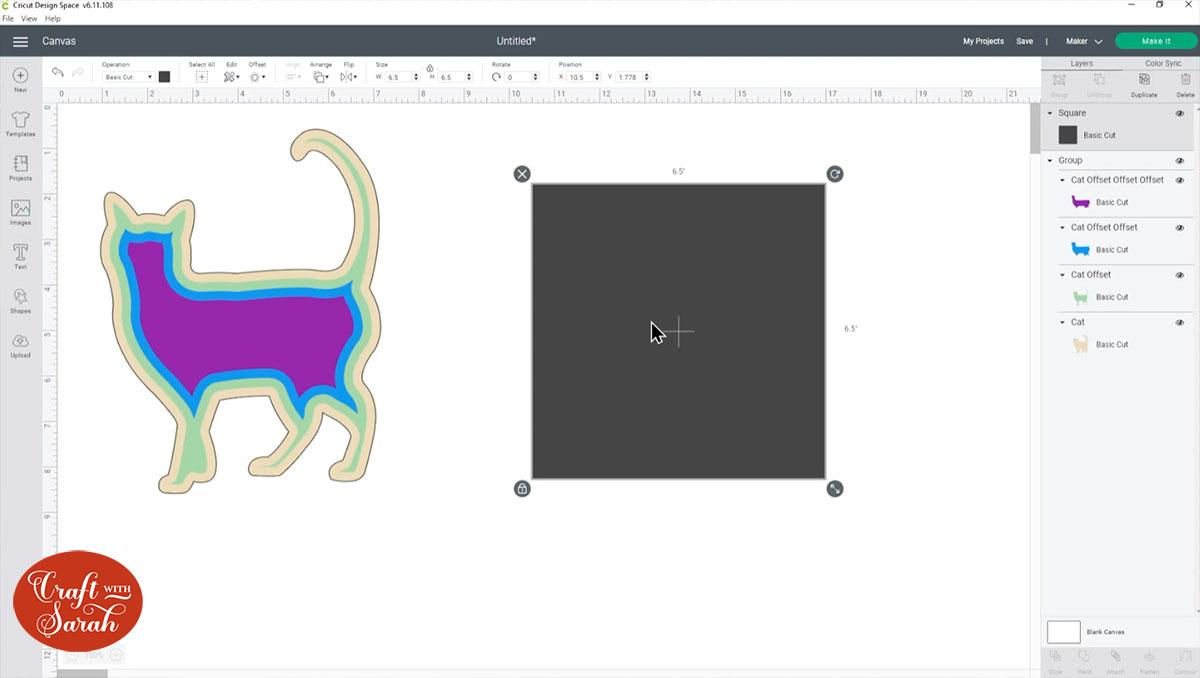 Add a square shape